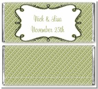 Modern Thatch Green - Personalized Everyday Party Candy Bar Wrappers