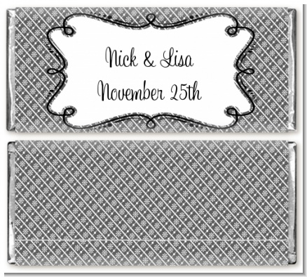 Custom Modern Thatch Grey Everyday Collection Grey candy bar wrappers