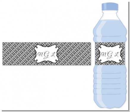 Modern Thatch Grey - Personalized Everyday Party Water Bottle Labels