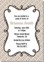 Modern Thatch Latte - Personalized Everyday Party Invitations