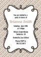 Modern Thatch Latte - Personalized Everyday Party Invitations thumbnail