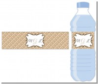 Modern Thatch Latte - Personalized Everyday Party Water Bottle Labels