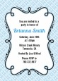 Modern Thatch Light Blue - Personalized Everyday Party Invitations thumbnail