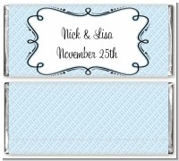 Modern Thatch Light Blue - Personalized Everyday Party Candy Bar Wrappers