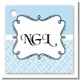 Modern Thatch Light Blue - Personalized Everyday Party Card Stock Favor Tags thumbnail