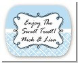 Modern Thatch Light Blue - Personalized Everyday Party Rounded Corner Stickers thumbnail