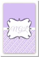 Modern Thatch Lilac - Personalized Everyday Party Large Rectangle Sticker/Labels