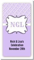 Modern Thatch Lilac - Personalized Everyday Party Rectangle Sticker/Labels