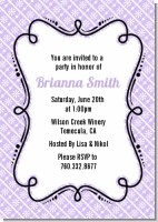 Modern Thatch Lilac - Personalized Everyday Party Invitations