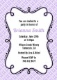Modern Thatch Lilac - Personalized Everyday Party Invitations thumbnail