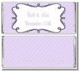 Modern Thatch Lilac - Personalized Everyday Party Candy Bar Wrappers thumbnail