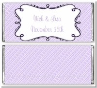 Modern Thatch Lilac - Personalized Everyday Party Candy Bar Wrappers
