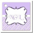 Modern Thatch Lilac - Personalized Everyday Party Card Stock Favor Tags thumbnail