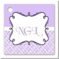 Modern Thatch Lilac - Personalized Everyday Party Card Stock Favor Tags