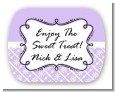 Modern Thatch Lilac - Personalized Everyday Party Rounded Corner Stickers thumbnail