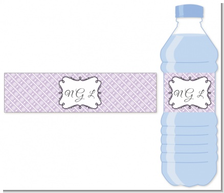 Modern Thatch Lilac - Personalized Everyday Party Water Bottle Labels