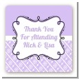 Modern Thatch Lilac - Personalized Everyday Party Square Sticker Labels thumbnail