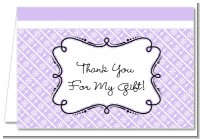 Modern Thatch Lilac - Personalized Everyday Party Thank You Cards