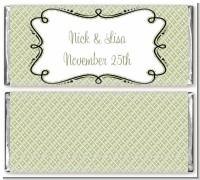 Modern Thatch Olive - Personalized Everyday Party Candy Bar Wrappers
