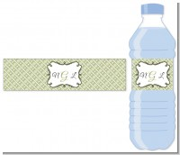 Modern Thatch Olive - Personalized Everyday Party Water Bottle Labels