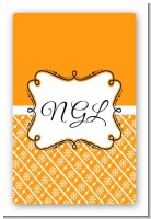 Modern Thatch Orange - Personalized Everyday Party Large Rectangle Sticker/Labels