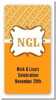 Modern Thatch Orange - Personalized Everyday Party Rectangle Sticker/Labels