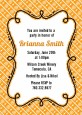 Modern Thatch Orange - Personalized Everyday Party Invitations thumbnail