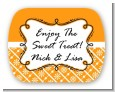 Modern Thatch Orange - Personalized Everyday Party Rounded Corner Stickers thumbnail