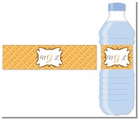 Modern Thatch Orange - Personalized Everyday Party Water Bottle Labels