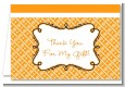 Modern Thatch Orange - Personalized Everyday Party Thank You Cards thumbnail