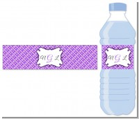 Modern Thatch Purple - Personalized Everyday Party Water Bottle Labels