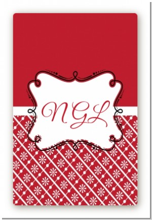 Modern Thatch Red - Personalized Everyday Party Large Rectangle Sticker/Labels