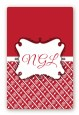 Modern Thatch Red - Personalized Everyday Party Large Rectangle Sticker/Labels thumbnail
