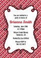 Modern Thatch Red - Personalized Everyday Party Invitations thumbnail