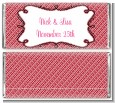 Modern Thatch Red - Personalized Everyday Party Candy Bar Wrappers thumbnail