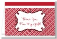 Modern Thatch Red - Personalized Everyday Party Thank You Cards thumbnail