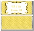 Modern Thatch Yellow - Personalized Everyday Party Candy Bar Wrappers thumbnail