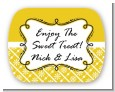Modern Thatch Yellow - Personalized Everyday Party Rounded Corner Stickers thumbnail