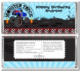 Monster Truck - Personalized Birthday Party Candy Bar Wrappers