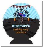 Monster Truck - Personalized Birthday Party Centerpiece Stand