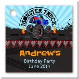 Monster Truck - Personalized Birthday Party Card Stock Favor Tags