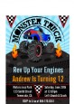 Monster Truck - Birthday Party Petite Invitations thumbnail