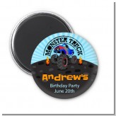 Monster Truck - Personalized Birthday Party Magnet Favors