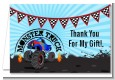 Monster Truck - Birthday Party Thank You Cards thumbnail