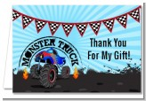 Monster Truck - Birthday Party Thank You Cards