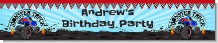 Monster Truck - Personalized Birthday Party Banners