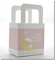 Over The Moon Girl - Personalized Baby Shower Favor Boxes