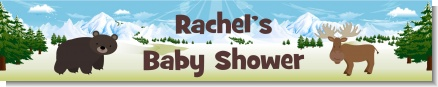 Moose and Bear - Personalized Baby Shower Banners