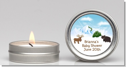 Moose and Bear - Baby Shower Candle Favors