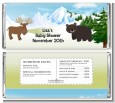 Moose and Bear - Personalized Baby Shower Candy Bar Wrappers thumbnail